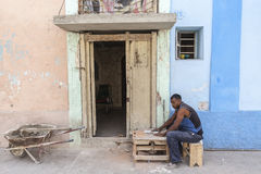 Private entrepreneur in Havana Royalty Free Stock Photos