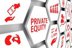 PRIVATE EQUITY-de achtergrond van de conceptencel stock illustratie