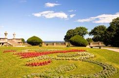 Private estate gardens stock photo