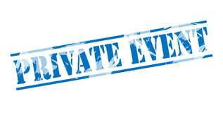 Private event blue stamp. Isolated on white background Royalty Free Stock Photo