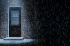 Private Eye Door Outside Rain Royalty Free Stock Image
