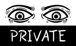 Private eyes Royalty Free Stock Image