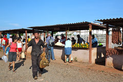 Private farmer´s market, Trinidad, Cuba stock image