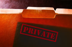 Private file folders Royalty Free Stock Photo