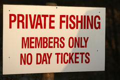 Private Fishing Royalty Free Stock Image