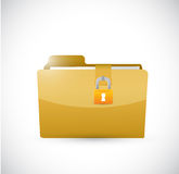 Private folder and lock. illustration design. Over a white background Stock Image