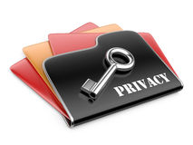 Private folder - privacy information concept. Royalty Free Stock Images