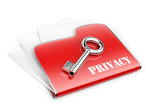 Private folder - privacy information concept. Stock Photography