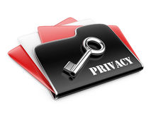 Private folder - privacy information concept. Stock Photo