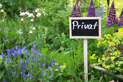 Private garden Stock Images