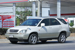 Private Green car Lexus RX300. Royalty Free Stock Photo