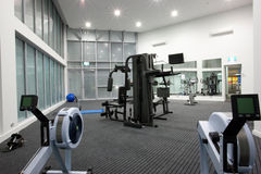Private Gym. Healthy living with a private gym Stock Image