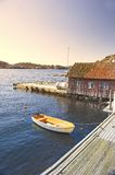 Private harbor in Norway Royalty Free Stock Images