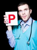 Private Health Care Professional Showing Letter P Royalty Free Stock Photography