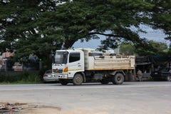 Private Hino Dump Truck. Chiangmai, Thailand - July 9 2019: Private Hino Dump Truck. On road no.1001 8 km from Chiangmai Business Area stock image