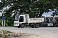 Private Hino Dump Truck. Chiangmai, Thailand - July 9 2019: Private Hino Dump Truck. On road no.1001 8 km from Chiangmai Business Area royalty free stock photos