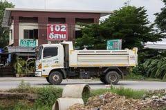 Private Hino Dump Truck. Chiangmai, Thailand - July 9 2019: Private Hino Dump Truck. On road no.1001 8 km from Chiangmai Business Area stock photo