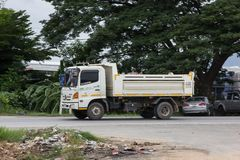 Private Hino Dump Truck. Chiangmai, Thailand - July 9 2019: Private Hino Dump Truck. On road no.1001 8 km from Chiangmai Business Area stock photography