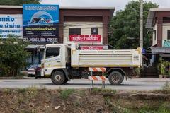 Private Hino Dump Truck. Chiangmai, Thailand - July 9 2019: Private Hino Dump Truck. On road no.1001 8 km from Chiangmai Business Area royalty free stock photo