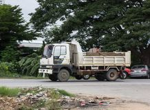 Private Hino Dump Truck. Chiangmai, Thailand - July 9 2019: Private Hino Dump Truck. On road no.1001 8 km from Chiangmai Business Area royalty free stock image