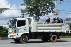 Private Hino Dump Truck with Passenger Royalty Free Stock Image