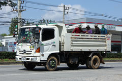 Private Hino Dump Truck with Passenger Stock Image