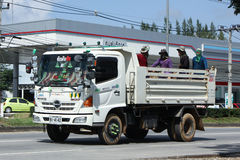 Private Hino Dump Truck with Passenger Stock Photography