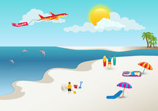 Private Holidays. A private holiday at the beach royalty free illustration