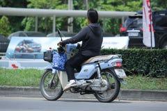 Private Honda Super Cub Motorcycle. Stock Image