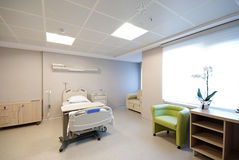Private hospital room interior Royalty Free Stock Photography