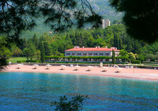 Private hotel. On the beach, Montenegro Stock Images