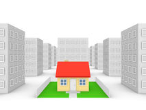 Private house in the city Royalty Free Stock Photos