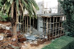 Private House Construction Site Stock Image