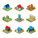 Private House 3d Isometric Royalty Free Stock Images