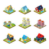 Private House 3d Isometric Royalty Free Stock Photography