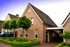 Private house in Holland. A private house in Holland, typical suburban Dutch architecture stock images