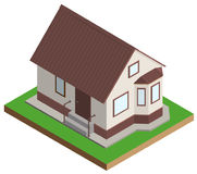 Private house mansion isometric projection Royalty Free Stock Photos