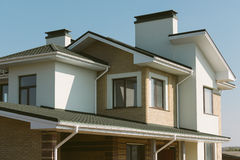 Private house. New private house building facade stock photos