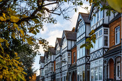 Private house in Richmond suburb of London in autumn royalty free stock image