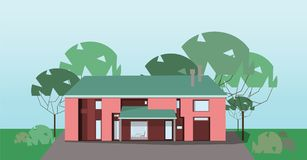 Private house, vector vector illustration