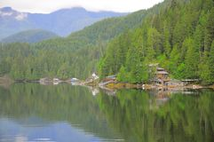 Private houses by the fjord. Stock Photography