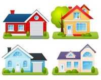 Private Houses Set Royalty Free Stock Photos