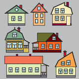 Private houses. Vector illustration. Stock Image