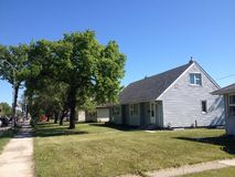 Private houses in Winnipeg Royalty Free Stock Images