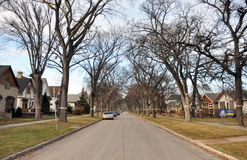 Private houses in Winnipeg. View of the private homes and cottages in Winnipeg City, Manitoba, Canada. Photo was taken in November 2013 stock photography