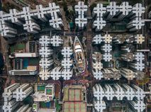 Private housing of Hong Kong Royalty Free Stock Image