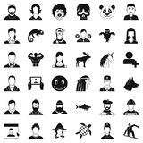 Private icons set, simple style. Private icons set. Simple style of 36 private vector icons for web isolated on white background Royalty Free Stock Image
