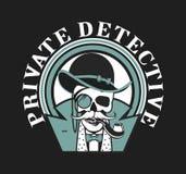 Private investigator Skull Stock Image