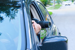 Private investigator stakeout photo documentation Stock Photo