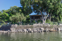 Private island in Nicaragua lake Royalty Free Stock Photos